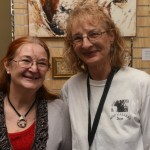Artist Dianne & ASSP Gallery Port Adelaide owner Sue Smith